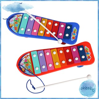 Baby Musical Toys Plastic Skateboard Style Hand Knocking Piano Xylophone Toy Educational Toy