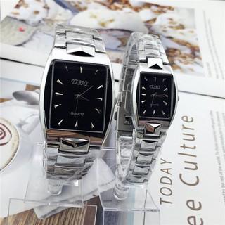 Đồng hồ thời trang nam nữ YiShi Mẫu mới mặt chữ nhật siêu đẹp MS055