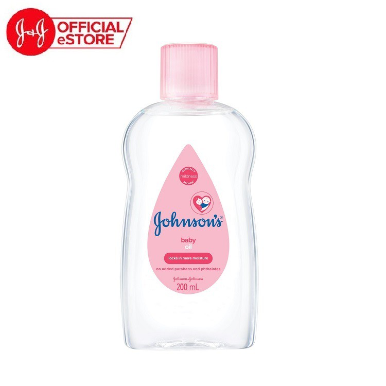 Dầu mát xa dưỡng ẩm Johnson's baby oil pink 200ml - 100980003