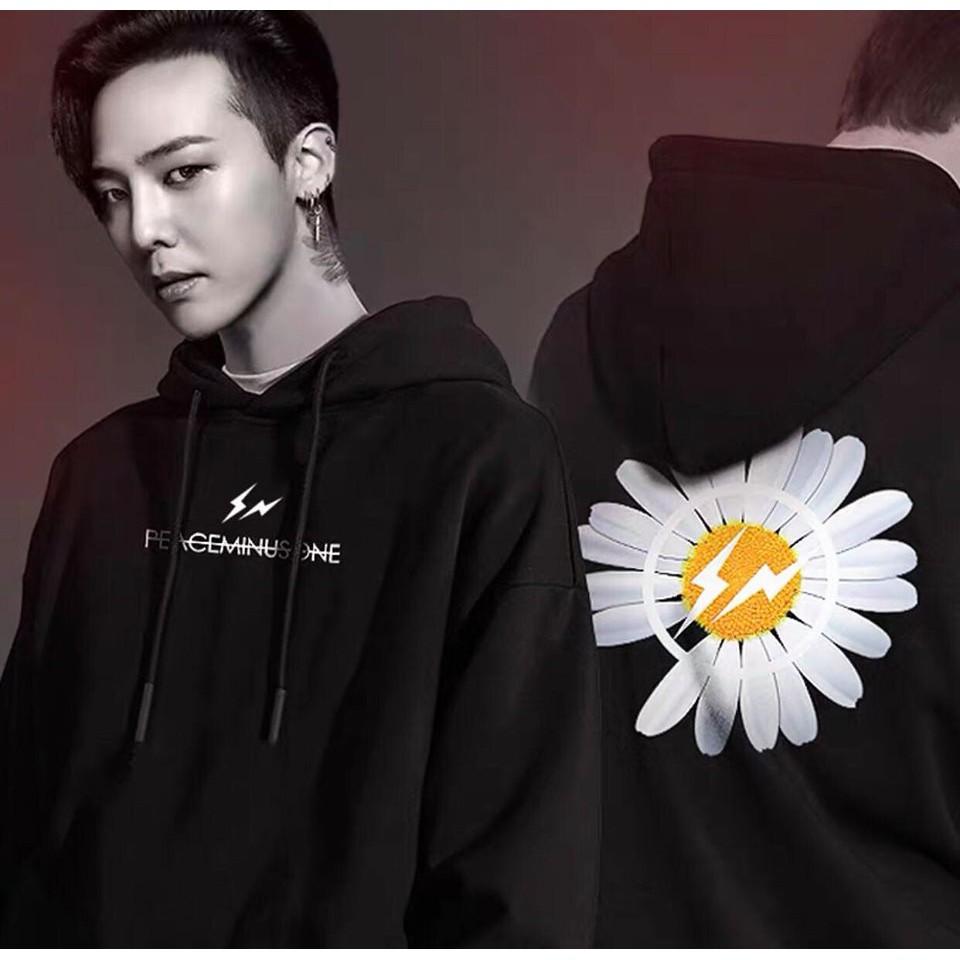 ÁO HOODIE HOA CÚC G-DRAGON GD form rộng unisex - Áo hoodie nam nữ vải thun nỉ đẹp tay dài mùa đông Tết năm 2020 | Basic2