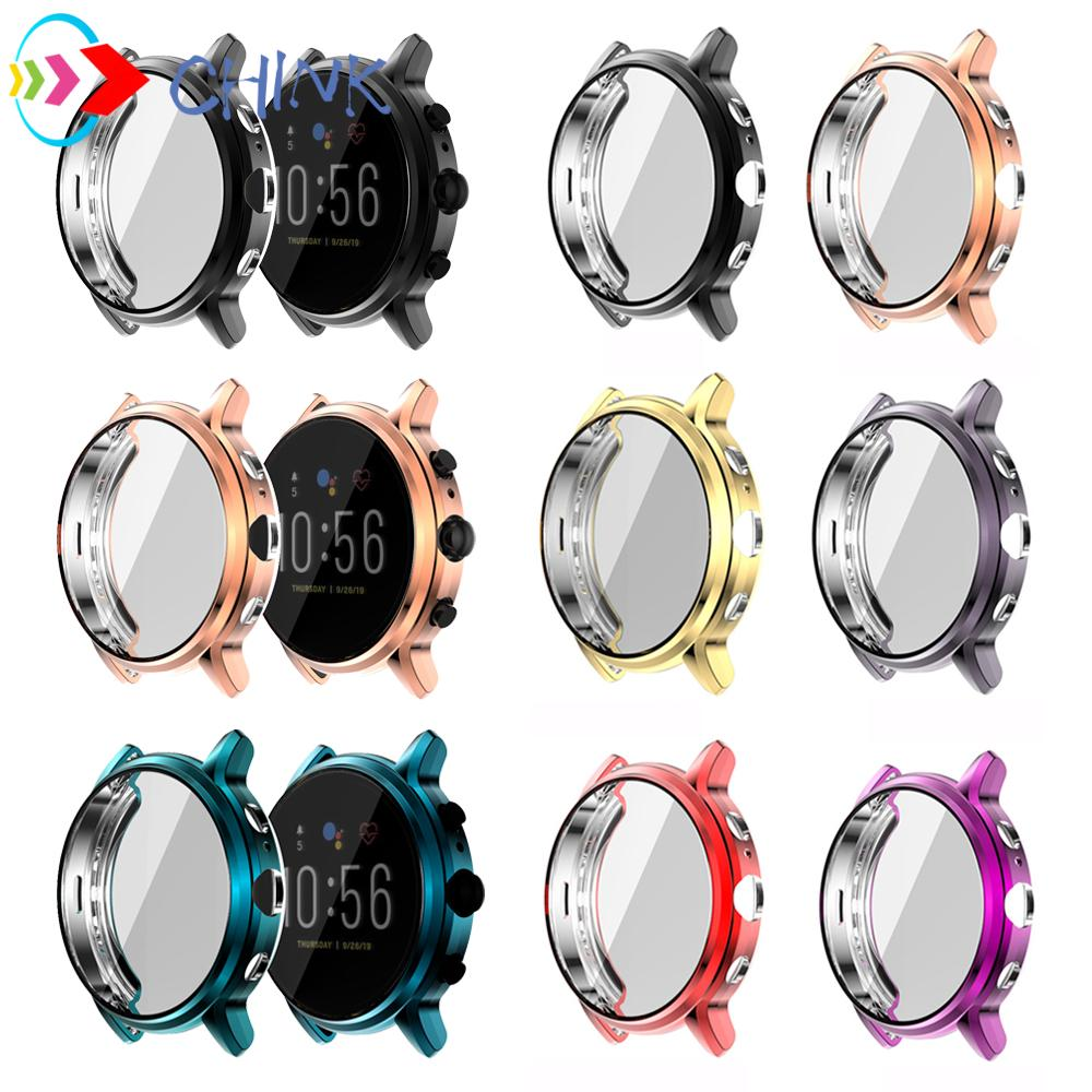 CHINK Fossil Gen 5 Carlyle Watch Case Multicolor Screen Protector Soft Tpu Thin Shell Light Bumper Accessories