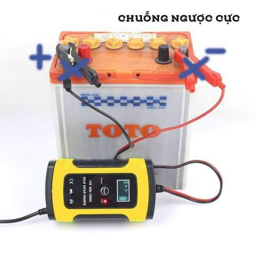 Bộ sạc điện acquy,máy sạc ắc quy FOXSUR 12V 5A cho xe máy và ô tô