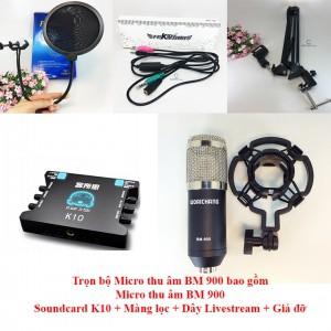 Bộ micro thu âm cao cấp BM900 + sound card K10 + dây livestream + Kẹp đỡ để bàn và màng lọc - 3080502 , 1055418788 , 322_1055418788 , 1800000 , Bo-micro-thu-am-cao-cap-BM900-sound-card-K10-day-livestream-Kep-do-de-ban-va-mang-loc-322_1055418788 , shopee.vn , Bộ micro thu âm cao cấp BM900 + sound card K10 + dây livestream + Kẹp đỡ để bàn và mà