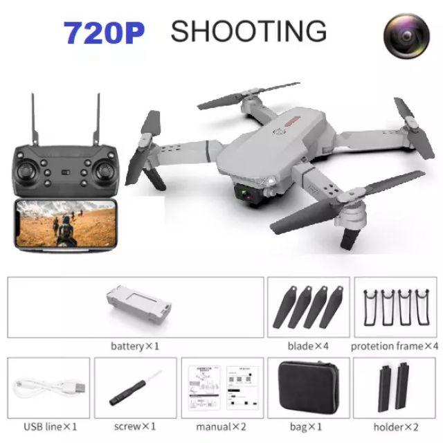 Máy bay điều khiển Flycam Drone E88, E58 nâng cấp có camera 4K HD Wifi FPV trực tiếp kèm túi