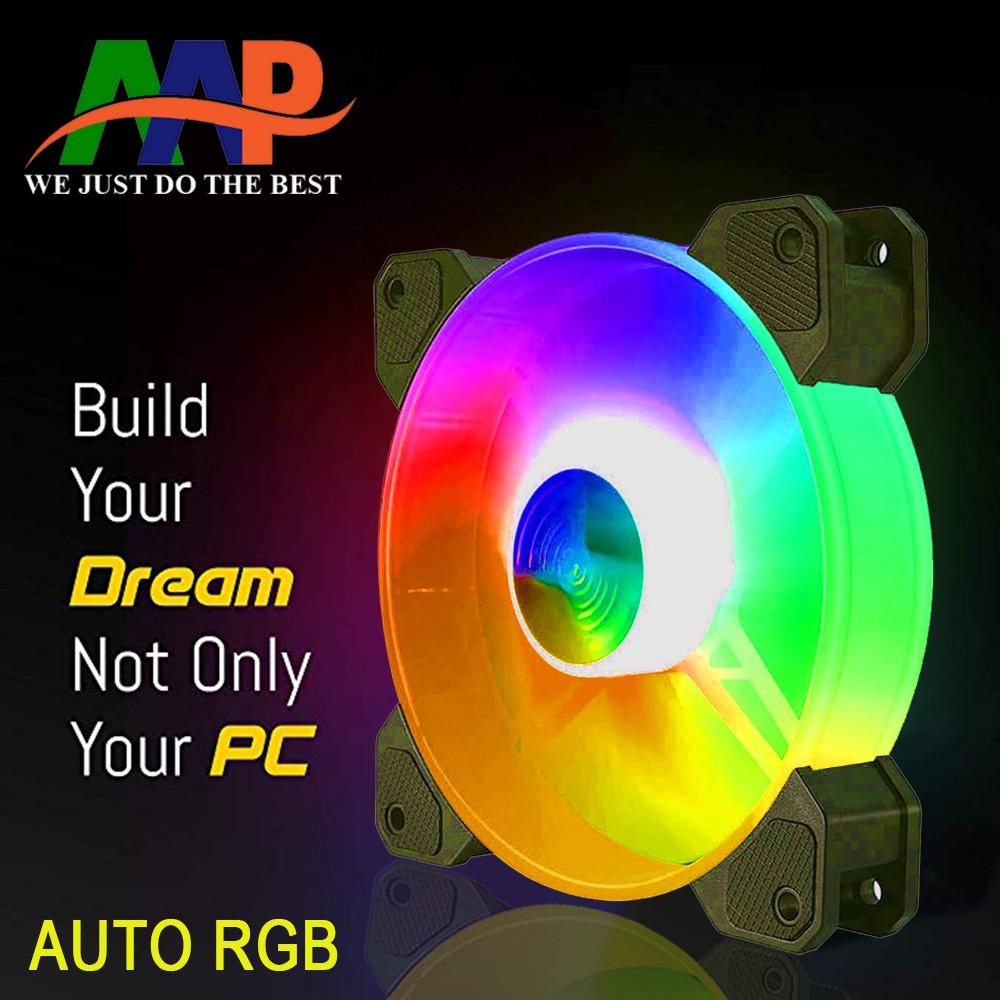 Fan Case 12cm AAP Auto RGB (TỰ ĐỘNG CHUYỂN CHẾ ĐỘ LED)