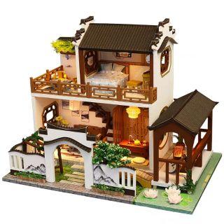 Kèm Mica và keo dán – Mô hình nhà gỗ búp bê Dollhouse DIY – M912 Lotus Pond