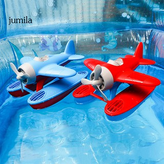 JUL 3D Slide Sea Plane Floating Model Water Play Baby Bath Swimming Pool Toy Gift