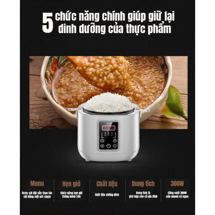 [ SALE TƯNG BỪNG] Nồi cơm điện 2L Sanxingkeji thông minh đa chức năng nhỏ hộ gia đình