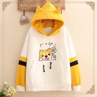 Aó hoodie in hình cún siêu dễ thương