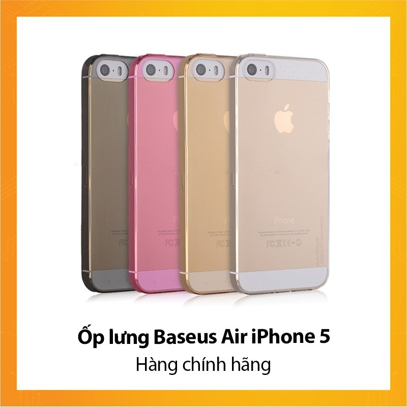 Ốp lưng Baseus Air iPhone 5 - Hàng chính hãng