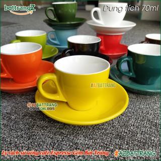 Bộ ly tách sứ cafe Espresso Bát Tràng nhiều màu