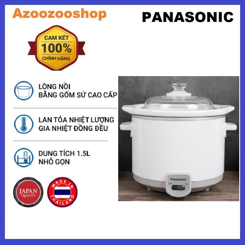 [Mã 267ELSALE hoàn 7% đơn 300K] Nồi nấu chậm Panasonic PANT-NF-N15SRA (1,5 Lít) - Hàng chính hãng - Bảo hành 12 tháng