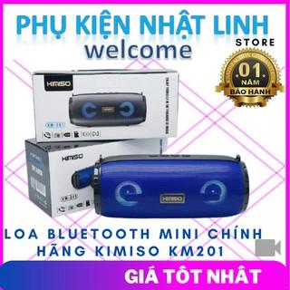 Loa bluetooth Mini chính hãng Kimiso KM201 2 loa Âm bass cực hay- Mang cả dàn nhạc-Phụ Kiện Nhật Linh