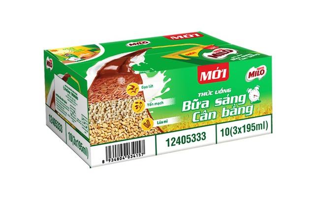 Hình ảnh Thùng 30 hộp sữa ngũ cốc Nestle Milo 195ml-0