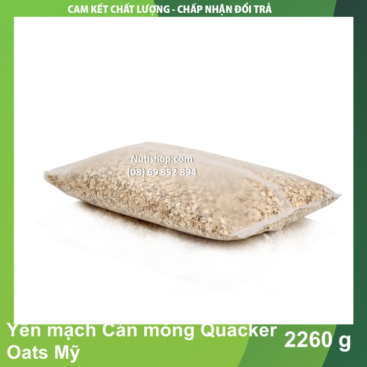 Yến mạch Cán mỏng Quacker Oats Mỹ 2260 g Yến mạch Cán mỏng Quacker Oats Mỹ 2260 g