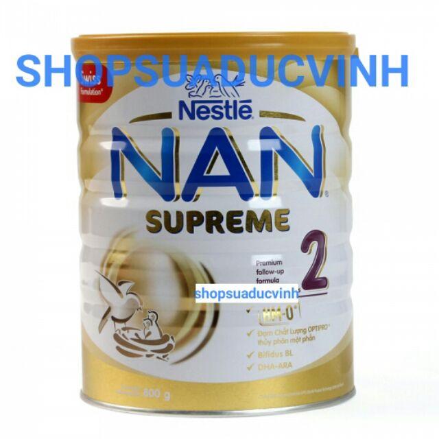 (TKB0718W2B giảm 3% tối đa 20k) MẪU MỚI Sữa bột Nestle Nan SUPREME 2 800g date 09/2019 - 2519083 , 39657919 , 322_39657919 , 499000 , TKB0718W2B-giam-3Phan-Tram-toi-da-20k-MAU-MOI-Sua-bot-Nestle-Nan-SUPREME-2-800g-date-09-2019-322_39657919 , shopee.vn , (TKB0718W2B giảm 3% tối đa 20k) MẪU MỚI Sữa bột Nestle Nan SUPREME 2 800g date 09/2019