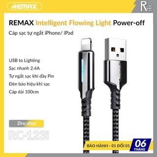   Chính Hãng Remax   Cáp Sạc Nhanh iPhone / iPad Tự Ngắt Điện Khi Sạc Đầy Pin Cho iPhone 6/ 7/ 8/ iPad (2.4A, Sạc Nhanh)