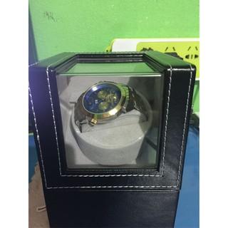 [CÓ ẢNH THẬT] Hộp Lắc Đồng Hồ Cơ 1 Xoay Bằng Da - Có Bảo Hành 12 Tháng thumbnail