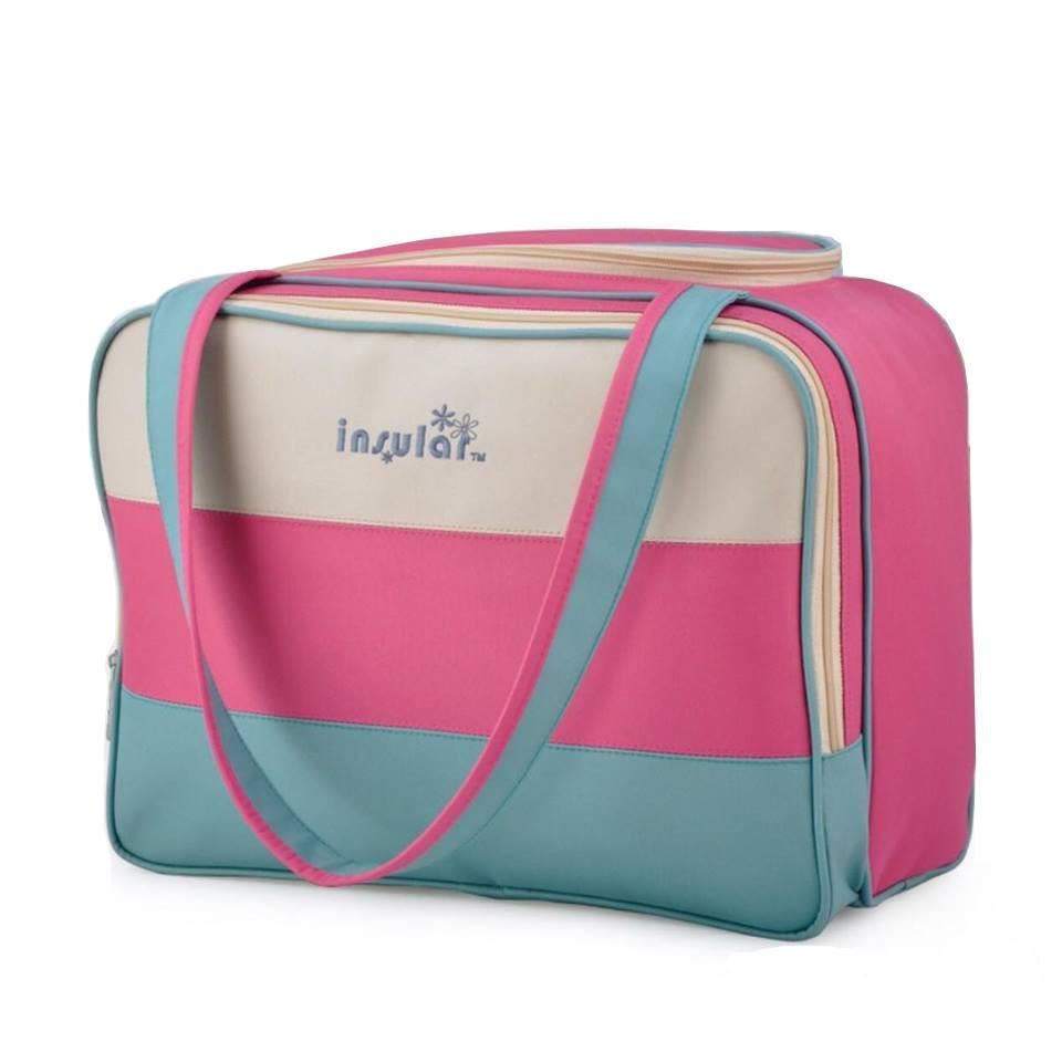 Túi đựng đồ Insular kẻ ngang màu cho mẹ và bé