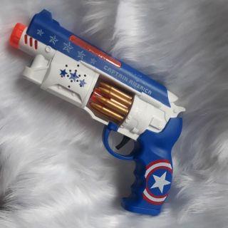 Đồ chơi súng pin CAPTAIN AMERICA cho bé