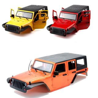 Unassembled 12.3inch 313mm Wheelbase Car Body Shell for 1/10 RC Crawler Axial SCX11 SCX10 90046 90047 Jeep Wrangler