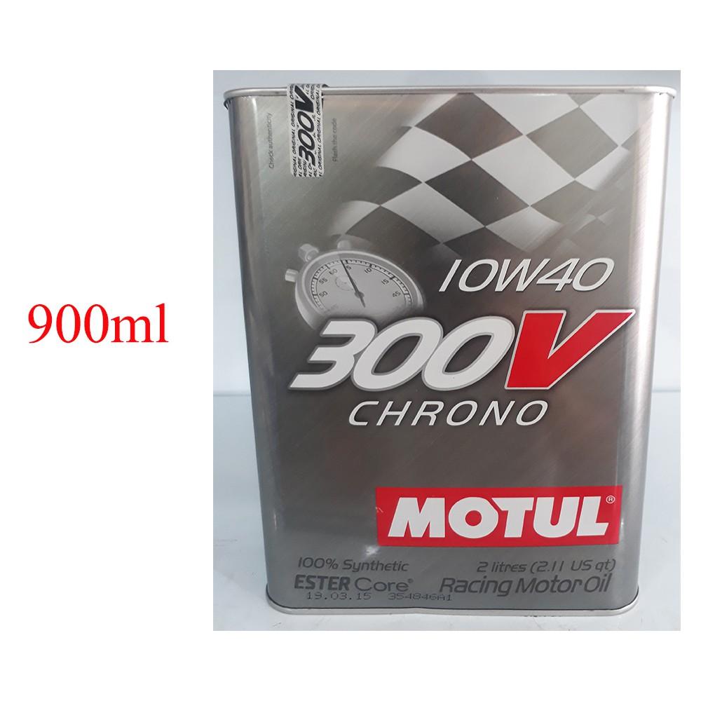 Dầu nhớt tổng hợp cao cấp xe tay ga Motul 300V Chrono 10W-40 tem 3 lớp chiết lẻ 900ml