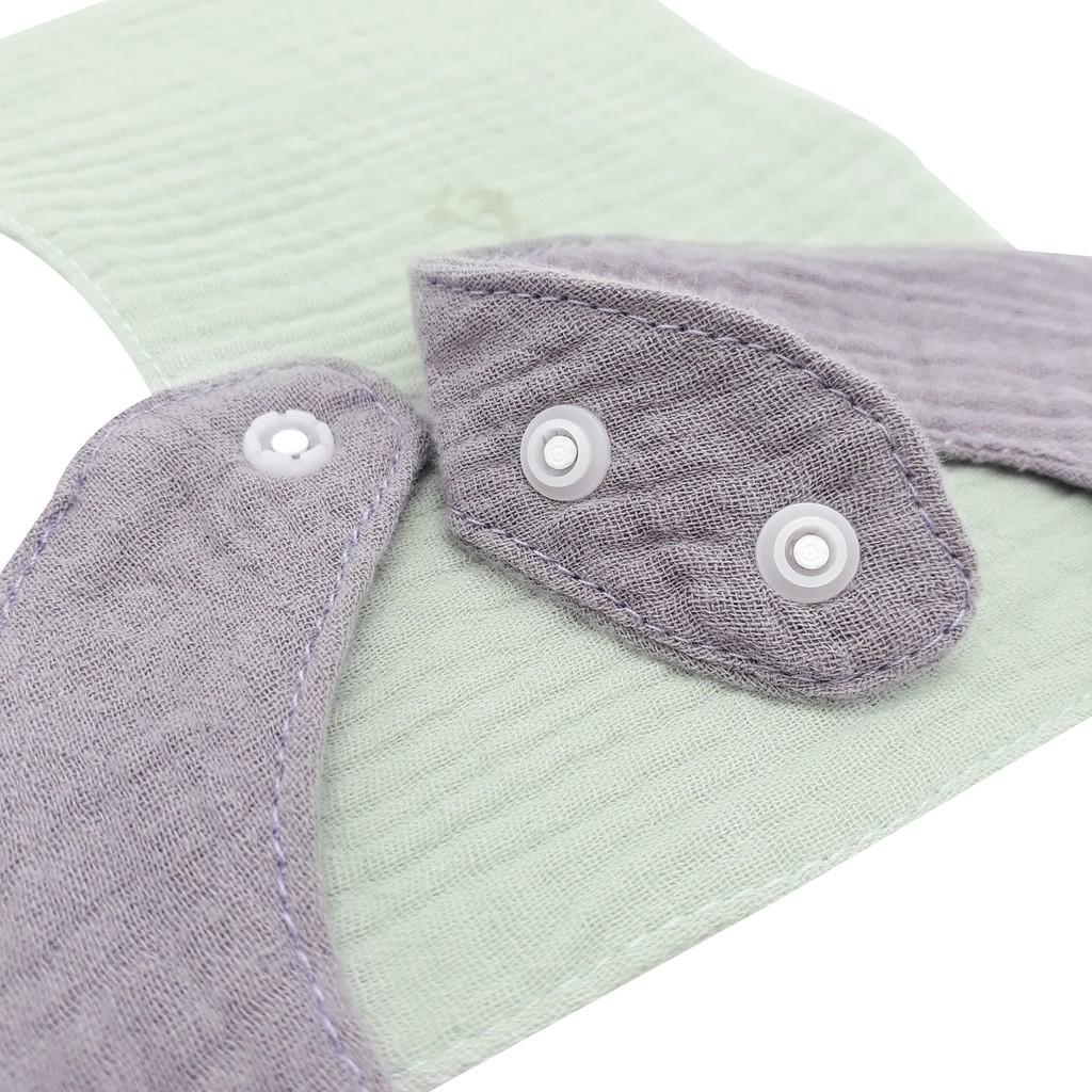 Set 2 Yếm Muslin - 1 pcs Organic giữ ấm cổ cho bé hình chữ U 100% cotton siêu mềm comfybaby