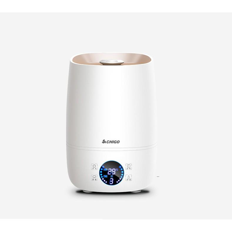 Máy phun sương CHIGO, máy xông phòng tạo ẩm không khí, dung tích 4000ml, phun sương liên tục 10h