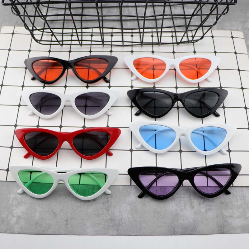 Feng Fan The Same Retro Net Red Triangle Cat Glasses Personality Sunglasses Female Wild Street Shooting Sunglasses Conca