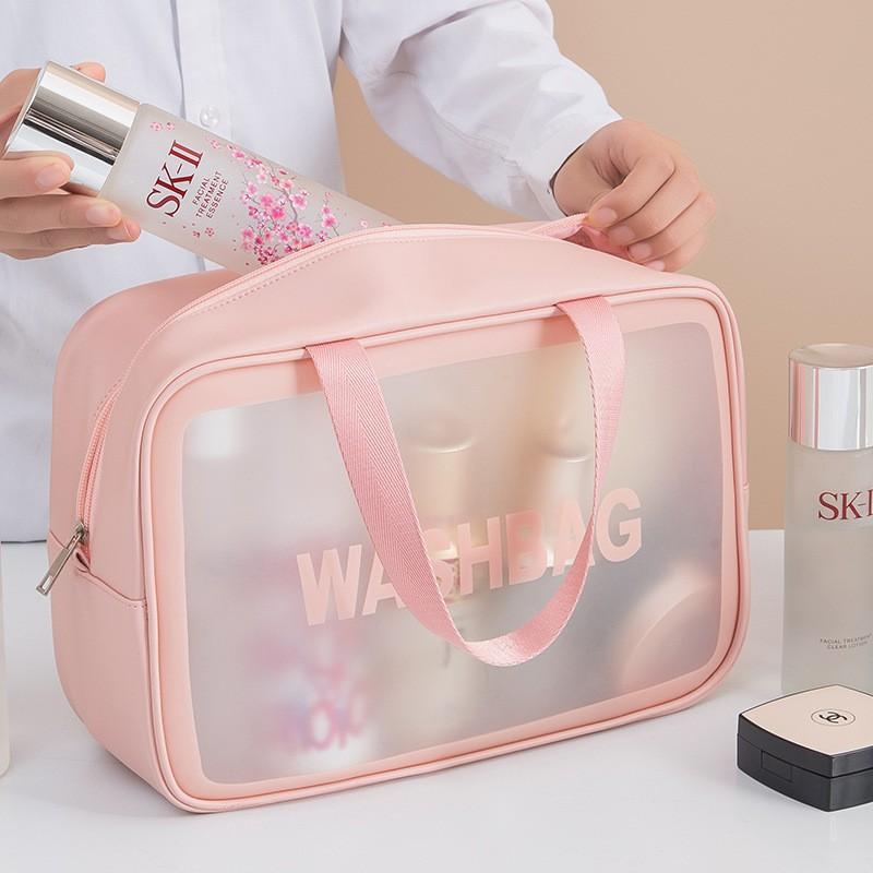 Túi đựng mỹ phẩm trong suốt chống thấm nước đa năng tiện dụng khi đi du lịch