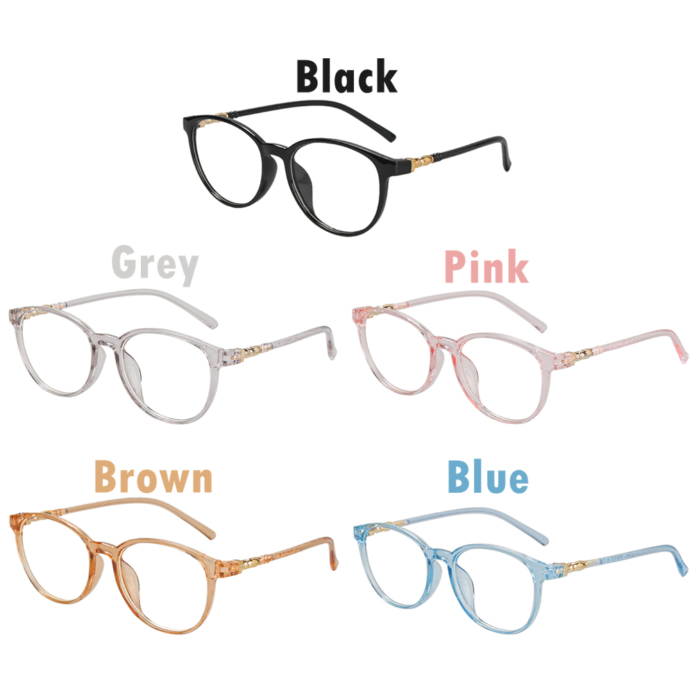 DIACHA Retro Computer Glasses Resin Flat Lens Vision Care Flexible Portable Anti Blue Rays Fashion Myopia Prescription Eyeglasses/Multicolor