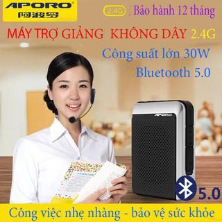 Loa trợ giảng Aporo T18 công suất 30W 2.4G Bluetooth 5.0 không dây ( BH 12 THÁNG )