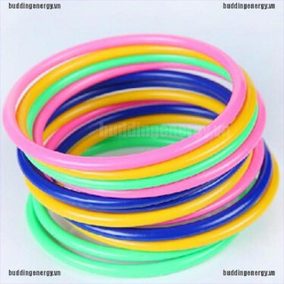 {buddi} 5Pcs 13.5CM Hoop Ring Toss Cast Circle Sets Educational Toy Kids Puzzle Game{LJ}