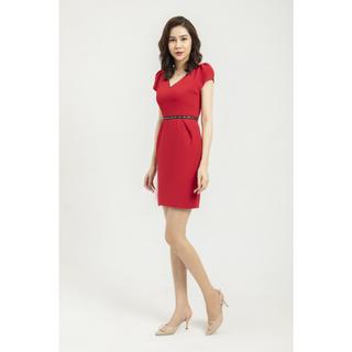 Đầm đỏ thiết kế eo Elise thumbnail