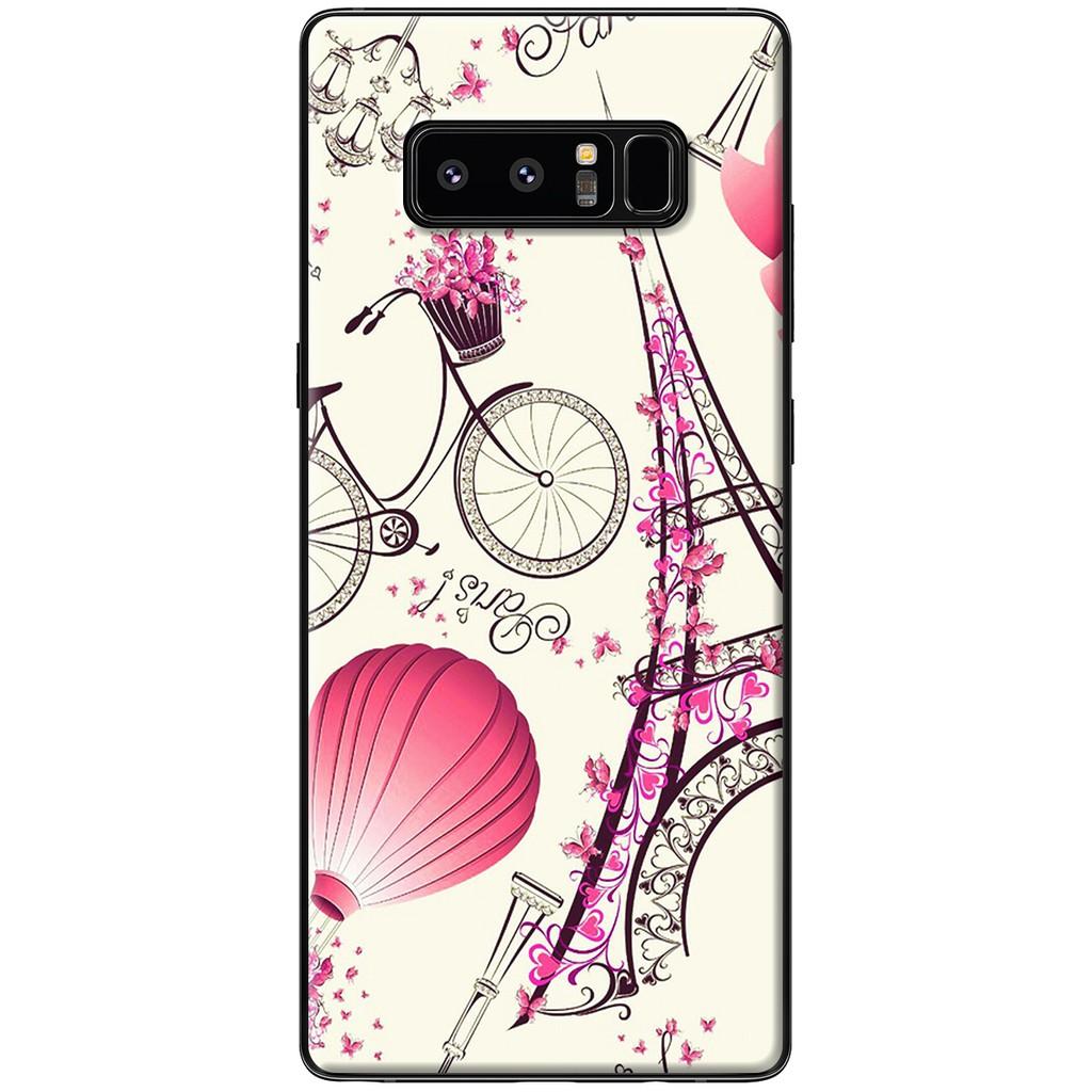 Ốp lưng Samsung Note 8 - Nhựa dẻo Paris lãng mạn