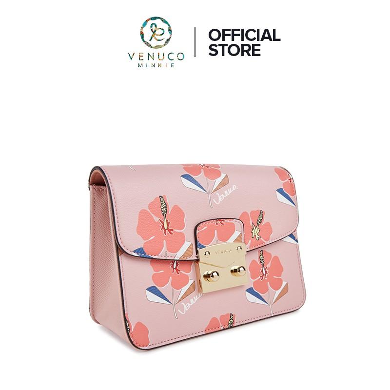 Túi xách nữ đeo chéo dạng hộp flora chính hãng Tây Ban Nha Venuco Madrid S402-Nhiều Màu
