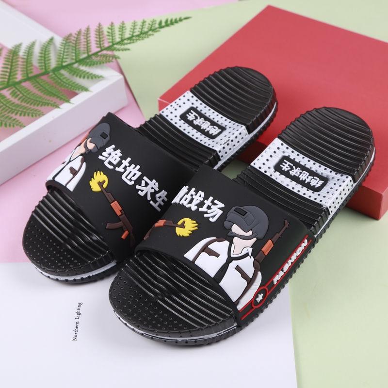 ✐♗▬Big Boy slippers Summer 2019 new Children's men anti-skid bath bathroom 7-8-12 years old