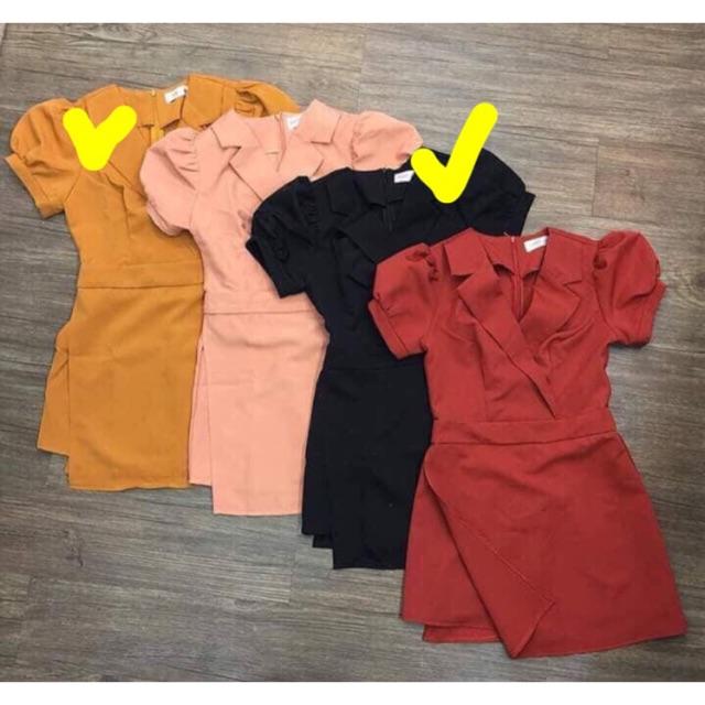 Jum cổ vest bigsize cực xinh 2 màu (đỏ - vàng bò) - từ 60-80 ký