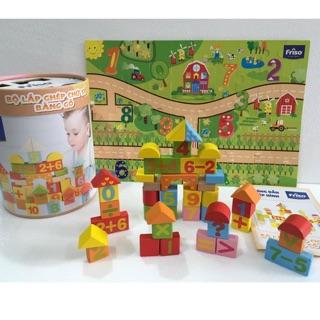 Combo 4 bộ đồ chơi gỗ Friso – Sáng Tạo – An Toàn cho trẻ