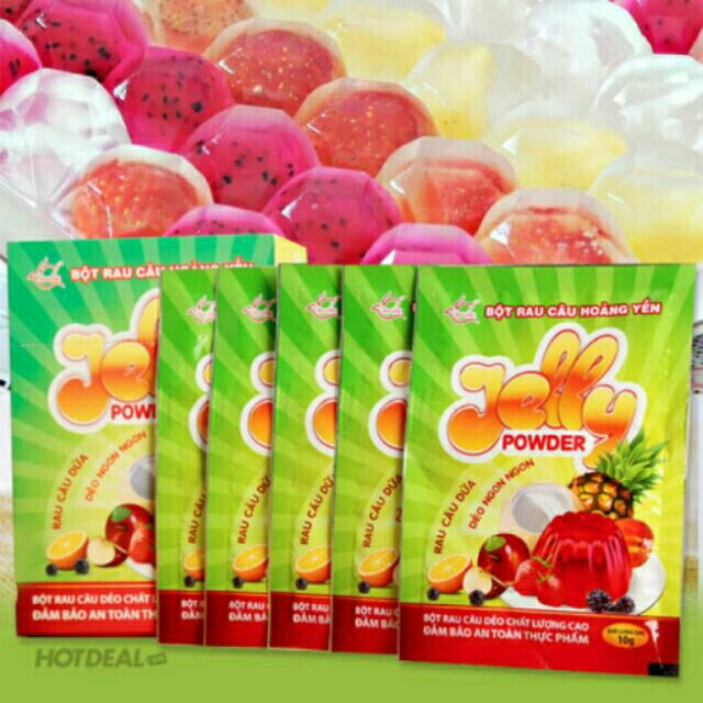 12 gói Bột rau câu dẻo Jelly powder Hoàng Yến , 10 gr/ gói - 10026628 , 256836327 , 322_256836327 , 78900 , 12-goi-Bot-rau-cau-deo-Jelly-powder-Hoang-Yen-10-gr-goi-322_256836327 , shopee.vn , 12 gói Bột rau câu dẻo Jelly powder Hoàng Yến , 10 gr/ gói