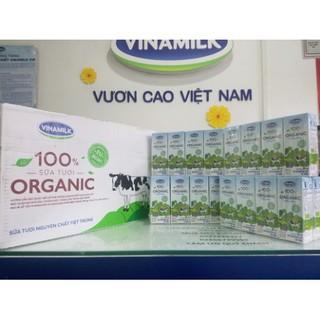 1 thùng 48 hộp Vinamilk 100% Organic hộp 180ml