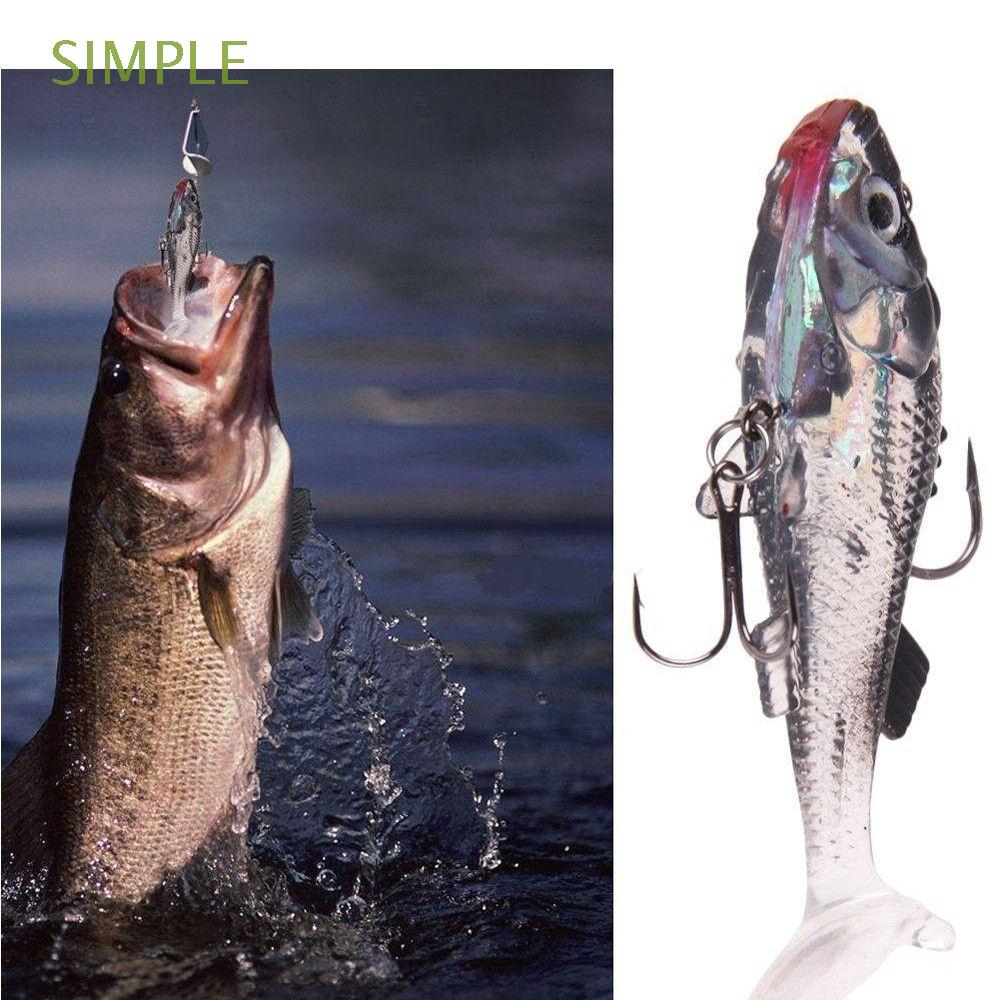 SIMPLE Useful Worm Bass Trout Shad Fishing Baits