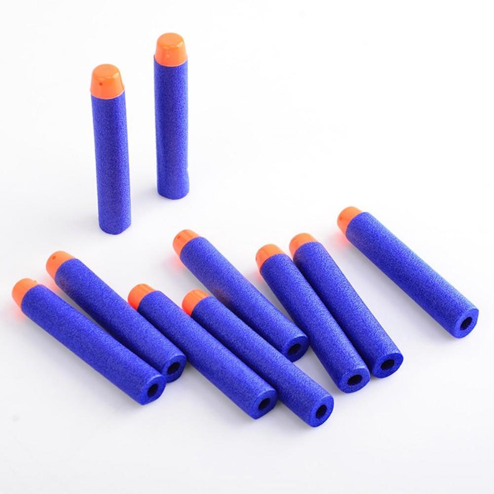 200pcs 7.2cm Soft Airguns Plastic Sucker War Hollow Hole Bullets Darts for Nerf Blaster Toy