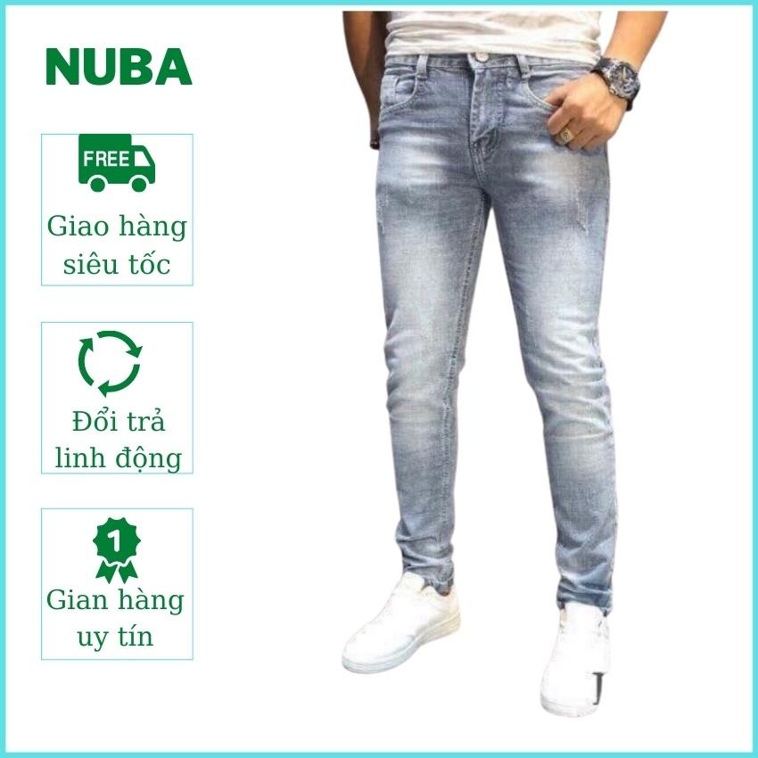 Quần jean nam mẫu mới, chất vải bò cao cấp,màu xanh đẹp giá rẻ AT 53