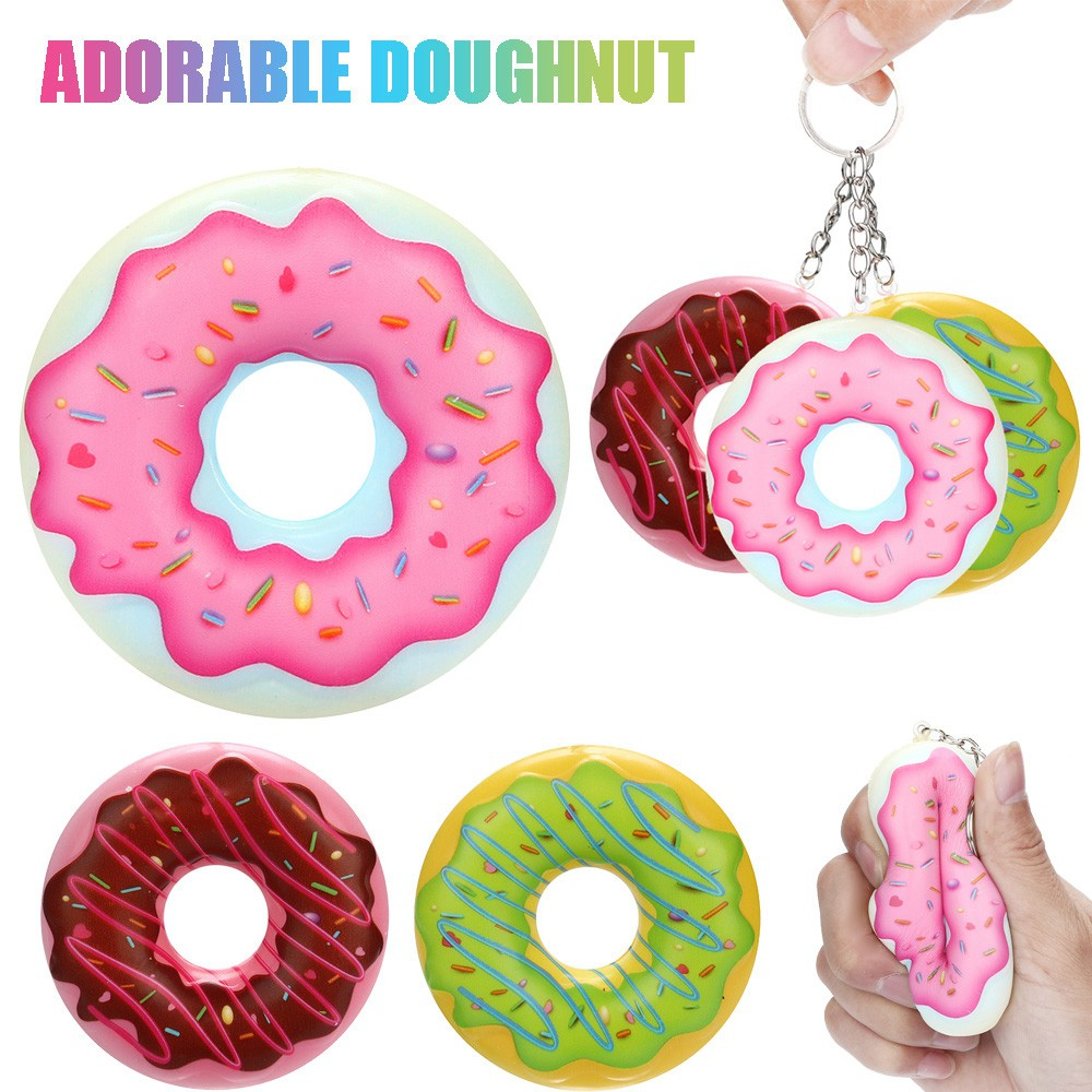 Đồ chơi giảm căng thẳng hình bánh donut 8cm dễ thương