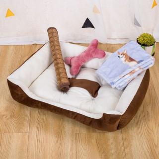 Chuồng chó bốn mùa phổ quát chất độn cho thú cưng Teddy lông lớn và nhỏ đông ấm áp mèo vật dụng giường thumbnail