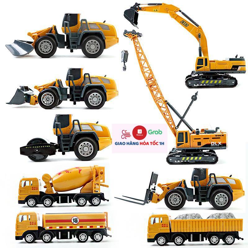 Tuyển tập xe đồ chơi mô hình công trình xây dựng cho bé, chất liệu nhựa an toàn, sắc sảo bền và Ā