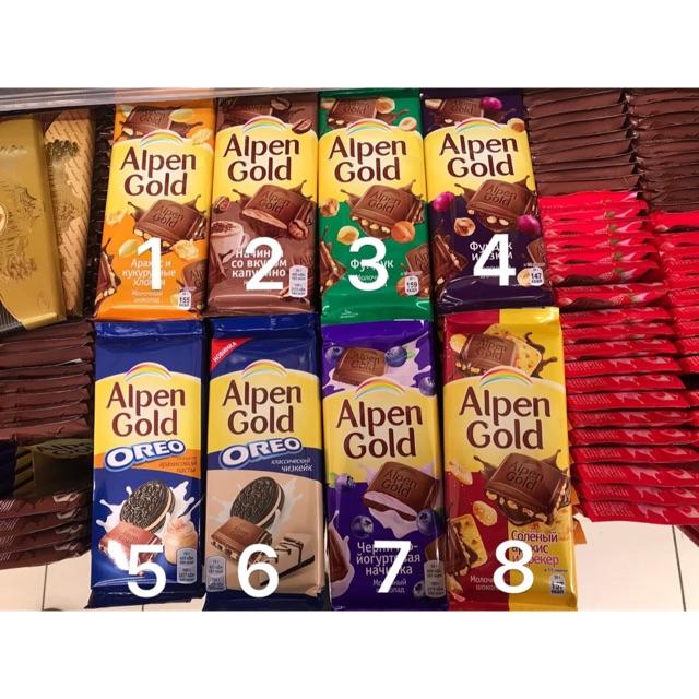 Thanh socola Alpen gold Nga 95g