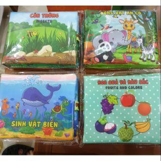 Combo 4 quyển sách vải Pipo