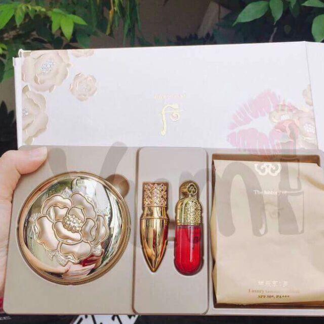Set phấn nước Whoo Luxury Golden Cushion